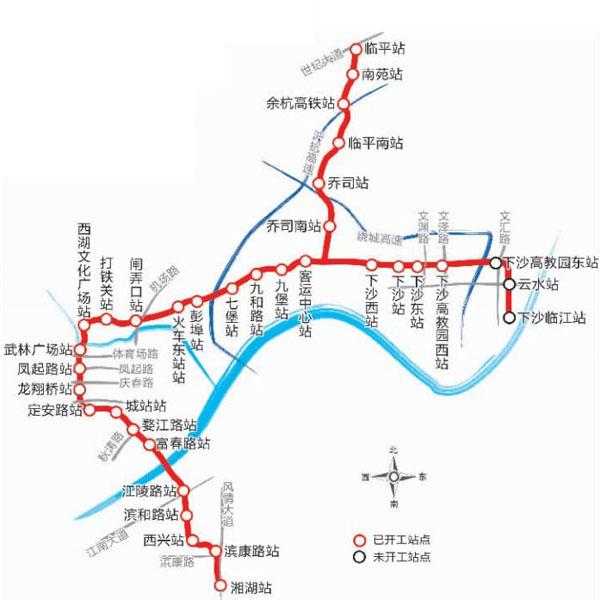 杭州地铁线路图